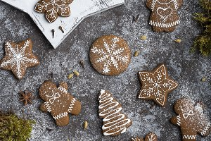 homemade christmas gingerbread cooki
