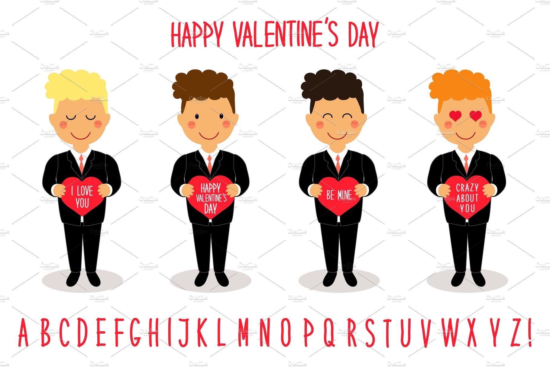 Cute valentines day cartoon cha