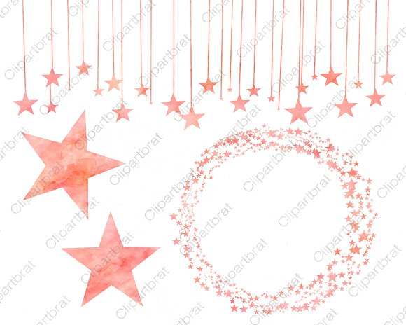 Salmon Celestial Sky Star Graphics in Illustrations - product preview 1