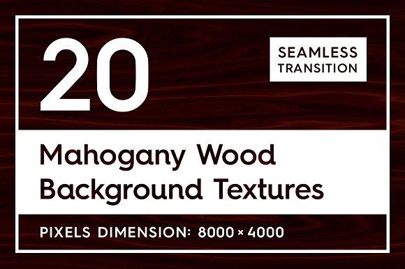 20 Mahogany Wood Background Textures