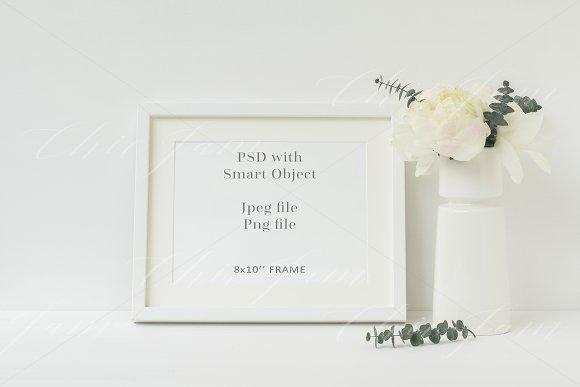 Floral 8x10 wedding mockup - wfr108