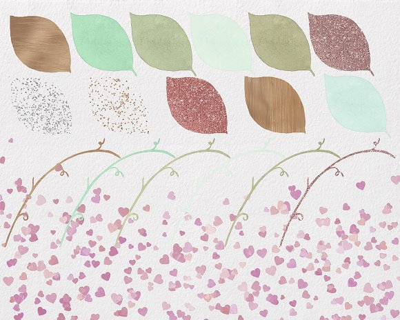 Rose Gold & Blush Watercolor Roses in Illustrations - product preview 1