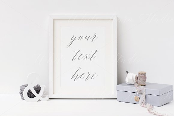 8x10 white frame mock up - wfr120 in Product Mockups