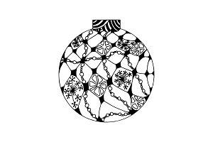 Handdrawn Christmas ball