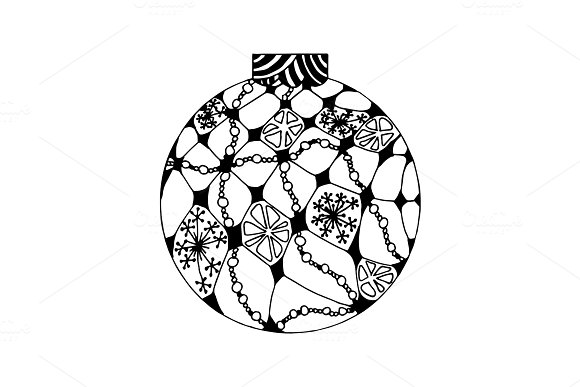 Handdrawn Christmas ball
