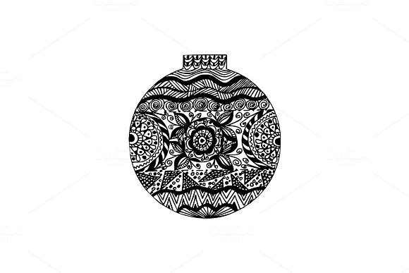 Handdrawn ornate ball