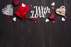 Valentines day, wedding or other holiday decorations, frame background.