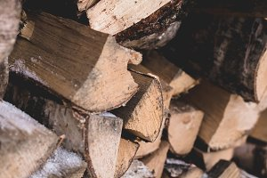 Firewood for kindling the fireplace