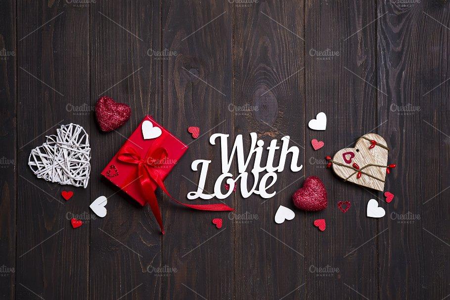 Happy Valentines Day Card Border Design Holiday Photos