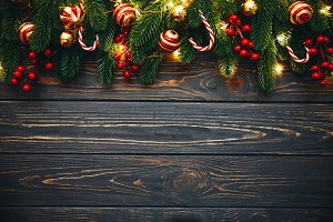 Christmas background border