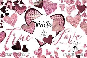 Pink & Burgundy Hearts Love Graphics