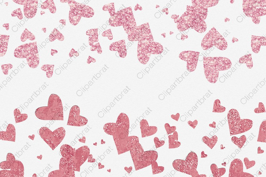 Pink & Burgundy Hearts Love Graphics in Illustrations - product preview 4