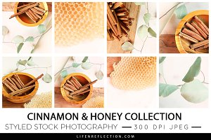 Cinnamon & Honey Stock Photography