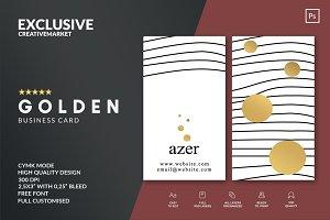GOLDEN Business Card Template & Logo