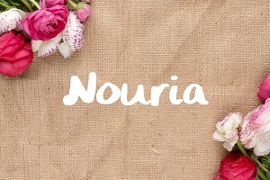 Nouria - Handwritten Script Font