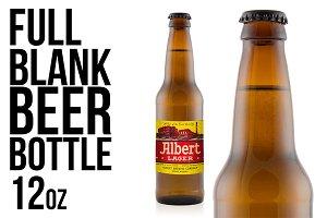 Full knocked out beer bottle 12oz