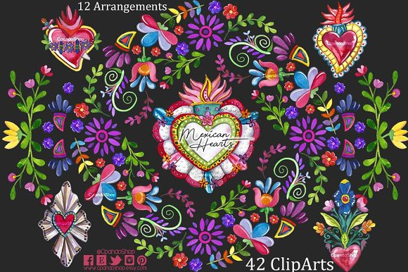 Mexican Hearts - Mexican Valentines