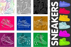 Sneakers - line graphics