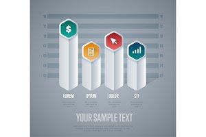 Infographics elements vector template