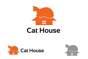 Cat House Care Sign Symbol