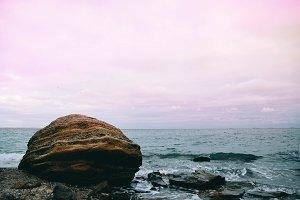 Beautiful rock on the sea shore