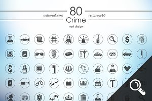 80 CRIME icons