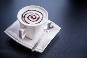 Cappuccino coffee cup ,Hot coffee