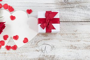 Traditional Valentine Gifts on Wood