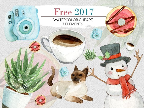 Watercolor Free 2017 Clipart
