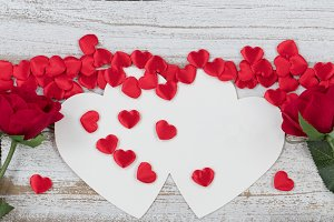 Roses and Hearts with Card