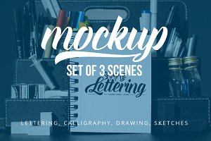 Lettering & Drawing Mockup Set 2