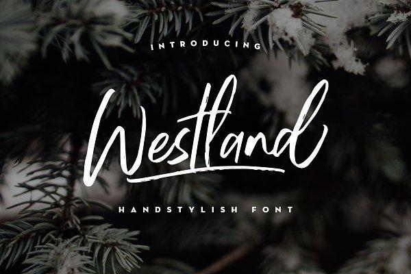 Westland Handstylish Font