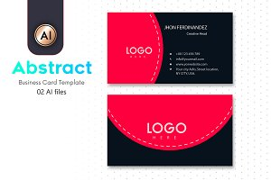 Abstract Business Card Template - 06
