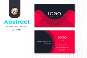 Abstract Business Card Template - 07