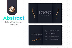 Abstract Business Card Template - 08
