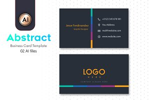 Abstract Business Card Template - 09