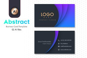 Abstract Business Card Template - 10