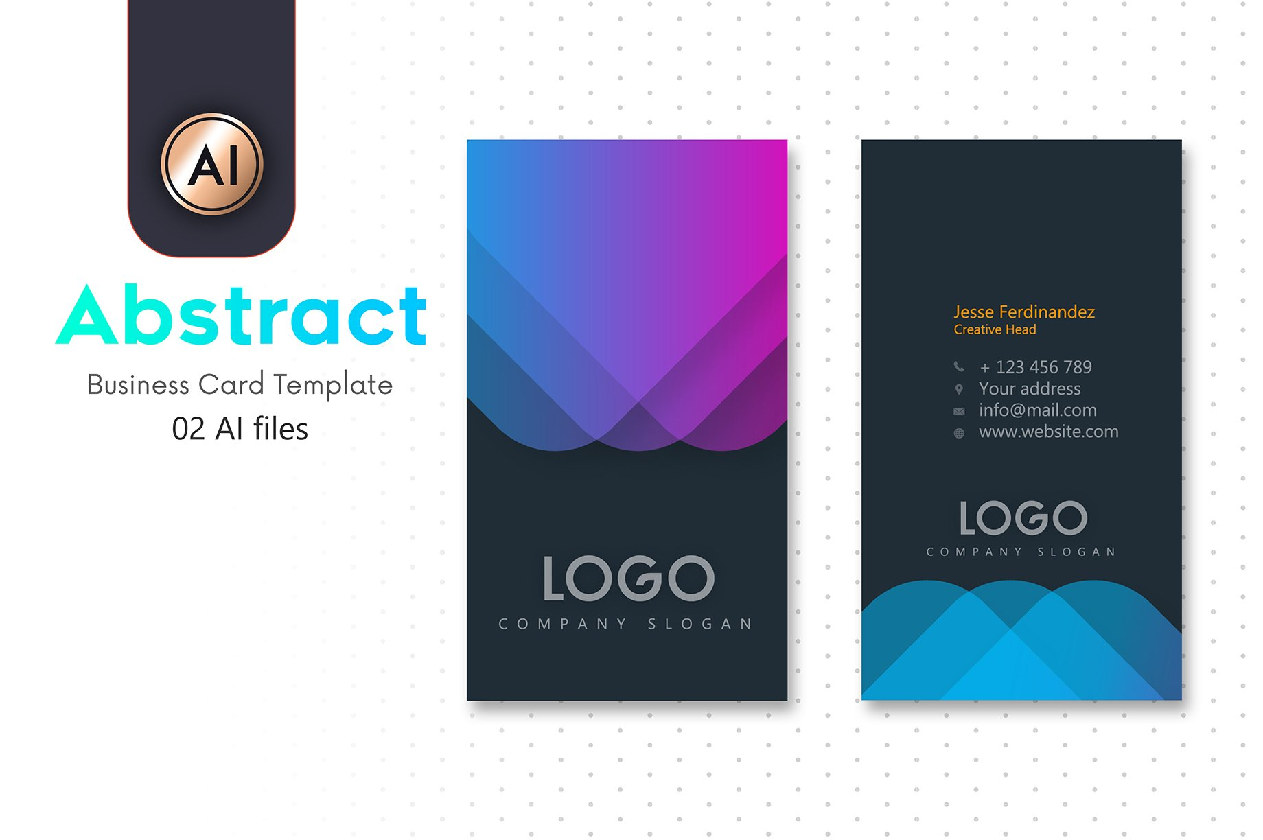 Abstract Business Card Template - 12 ~ Business Card Templates ...