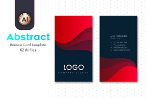 Abstract Business Card Template-12B
