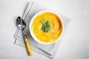Pumpkin soup with parsley