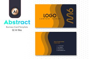 Abstract Business Card Template - 16