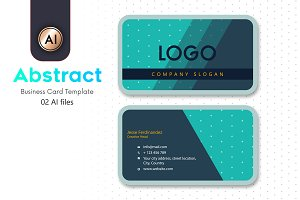 Abstract Business Card Template - 17