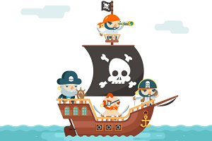 Pirate Ship crew Buccaneer Filibuste