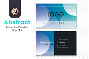 Abstract Business Card Template - 21