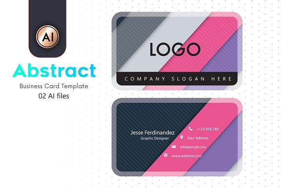 Abstract business card template 22 business card templates abstract business card template 22 pronofoot35fo Images