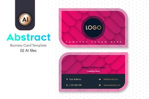 Abstract Business Card Template - 24
