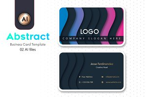 Abstract Business Card Template - 26