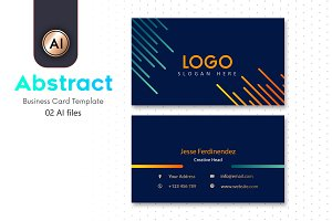 Abstract Business Card Template - 32