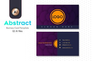 Abstract Business Card Template - 33
