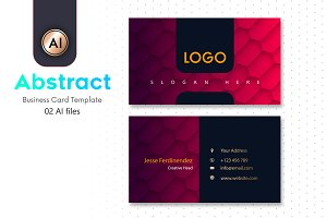 Abstract Business Card Template - 34